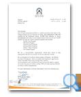 Dar Al Atta'a Association (DAA) letter