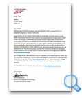 Education Above All Foundation letter