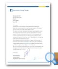 King Hussein Cancer Foundation letter